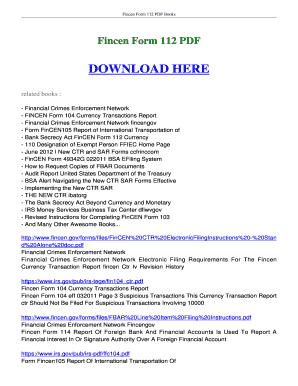 Fillable Online booksread Fincen Form 112 FREE download- boksread ...