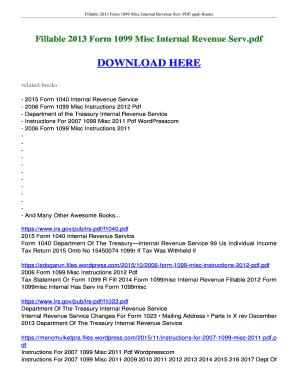 Fillable Online ebookread 2013 Form 1099 Misc Internal