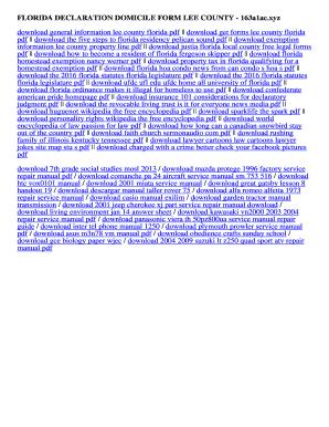 Fillable Online 163a1ac FLORIDA DECLARATION DOMICILE FORM LEE ...