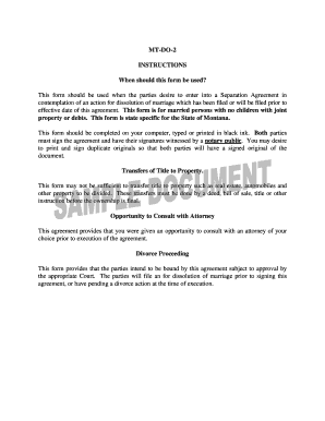 Submit Free Marriage Separation Agreement Form Samples In