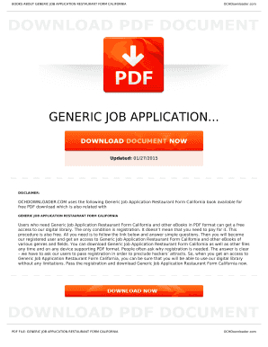 generic job application doc