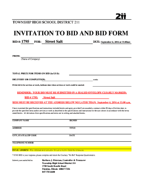 fillable online adc d211 invitation to bid and bid form adc d211 fax email. Black Bedroom Furniture Sets. Home Design Ideas