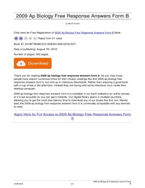 2009 ap bio essay answers
