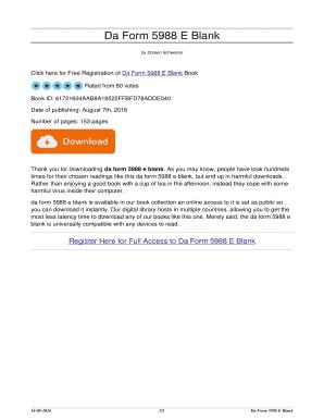 Fillable Online Da Form 5988 E Blank. da form 5988 e blank Fax ...