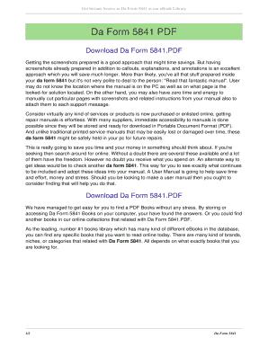Fillable Online Da Form 5841. da form 5841 Fax Email Print - PDFfiller