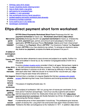 Eftps payment worksheet short form