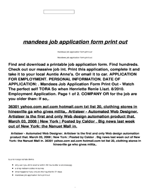 11 printable printable job application form templates fillable