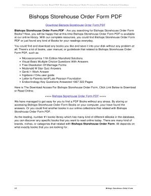 Bishops Storehouse Order Form 2016 - Fill Online, Printable ...