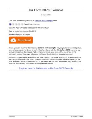 Fillable Online alternativeartsproject Da Form 3078 Example. da ...