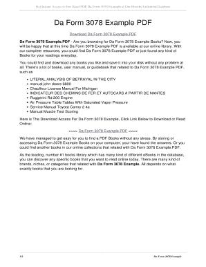 Fillable Online Da Form 3078 Example PDF. da form 3078 example PDF ...
