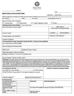 Remittance Application Form Meezan Bank, Meezanbankcom Fill Online Printable Fillable Blank Pdffiller, Remittance Application Form Meezan Bank