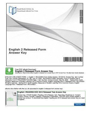 English 2 Released Form Answer Key - Fill Online ...