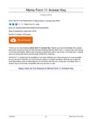 Fillable Online booksendzombie Nbme Form 11 Answer Key. nbme form ...