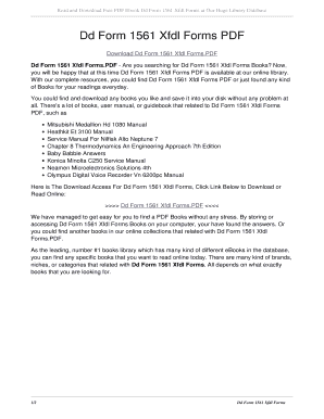Fillable Online nationaltrack Dd Form 1561 Xfdl Forms PDF. dd form ...