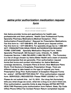AETNA BETTER HEALTH® OF FLORIDA Referrals and Prior ...