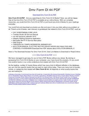 Fillable Online Dmv Form Dl 44 PDF. dmv form dl 44 PDF Fax Email ...