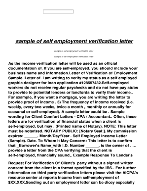 Fillable Online pf intelligentutilitysolutions sample of self employment verification letter - pf intelligentutilitysolutions Fax Email Print - PDFfiller