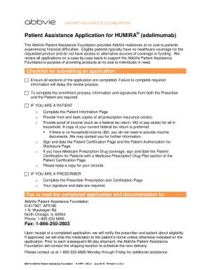 Fillable Online Products Abbviepaf Patient Assistance Application