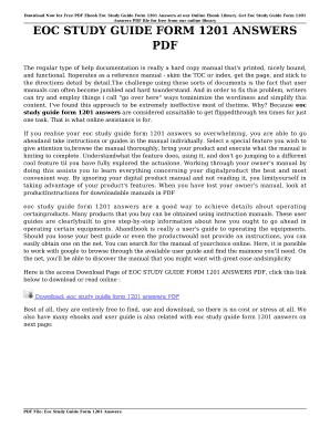 fillable online peanutbutterrecipe eoc study guide form 1201 answers rh pdffiller com