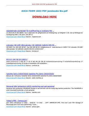 Fillable Online Ebooktake Ahca Form 1823 Pdf Jansbooks Biz Ahca