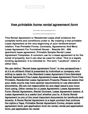 free printable simple lease agreement