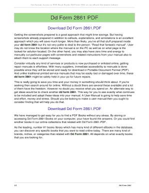 Fillable Online Dd Form 2861. dd form 2861 Fax Email Print - PDFfiller