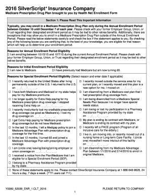 silverscript prior authorization form Submit silverscript medicare part d prior authorization form PDF ...