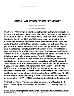 Fillable Online form h1028 employment verification - xk.gatorjazz ...
