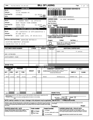 what is vics bill of lading