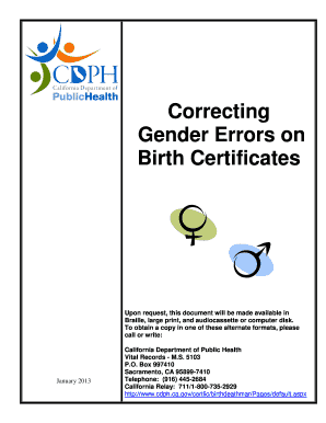 Editable birth affidavit sample fill print download forms in correcting gender errors on birth certificates the county of santa yelopaper Image collections