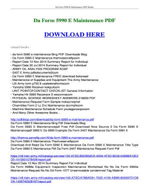 Fillable Online booksread Da Form 5990 E Maintenance FREE download ...