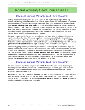 General Warranty Deed Form Texas. General Warranty Deed Form Texas