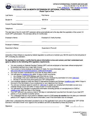 Editable i983 form opt extension - Fill Out, Print & Download ...