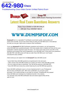 Fillable Online Free 642-980 PDF Download - Free Cisco Exams