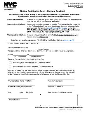 Medical certification form - Edit, Fill, Print & Download