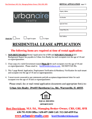 example of a filled out residential lease - Edit, Print & Download ...
