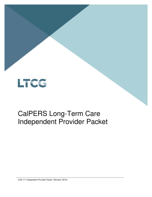 CalPERS Long-Term Care Program Independent Provider ...