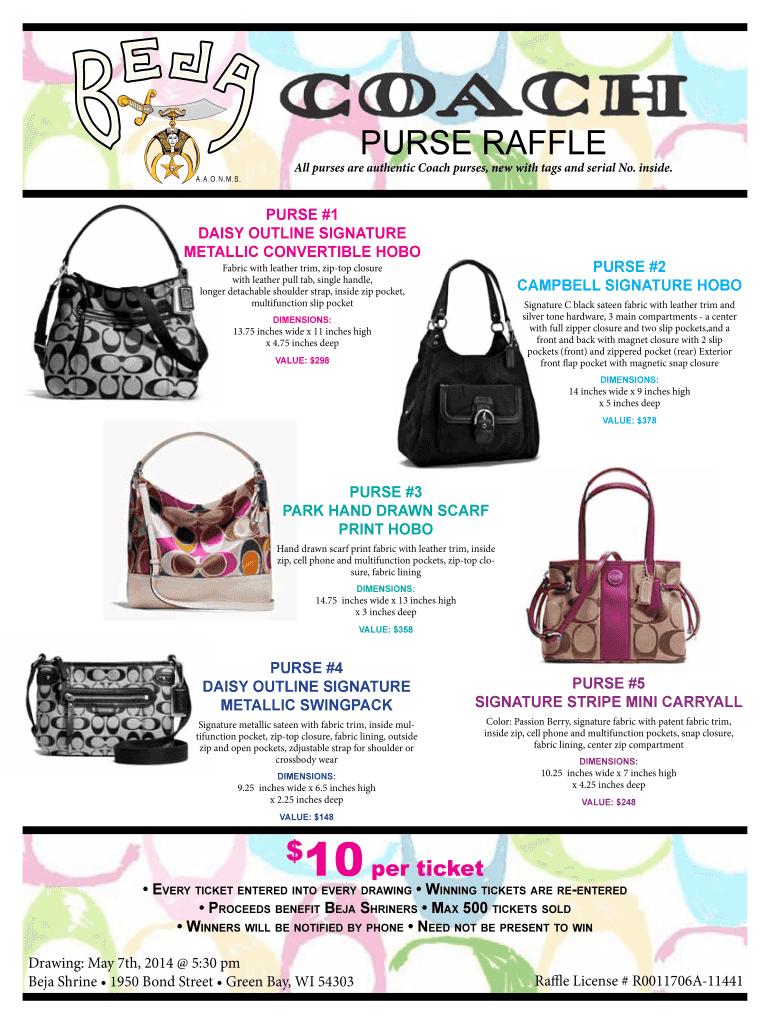 Fillable Online purse raffle - Beja Potentate - Beja