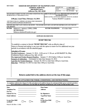 Printable modot vehicle bids - Fill Out & Download Invoice