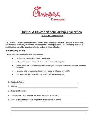 photo about Chick Fil a Printable Applications known as Fillable On the net bhs bettendorf k12 ia Chick-fil-A Davenport