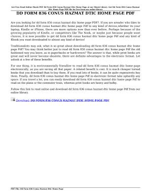 Fillable Online marketingalaska DD FORM 836 CONUS HAZMAT DTIC HOME ...