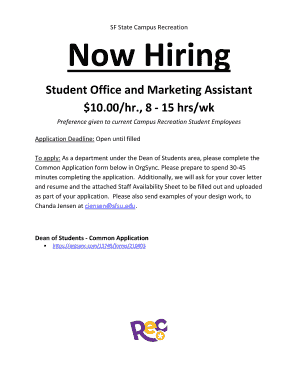 Fillable Online sfsu SF State Campus Recreation Now Hiring - sfsu ...