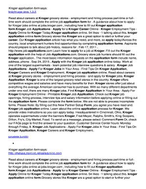 photograph regarding Kroger Printable Application referred to as Kroger Software program - Fill On the internet, Printable, Fillable, Blank