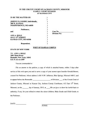 habeas corpus example