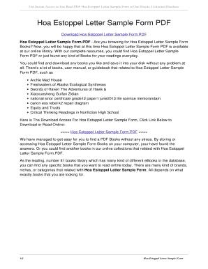 Fillable Online tajoda arecolp Hoa Estoppel Letter Sample Form PDF