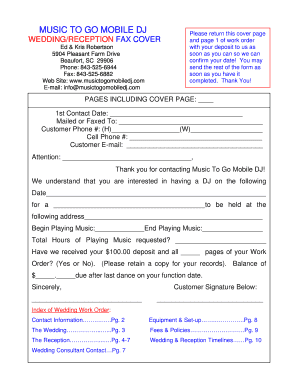 Wedding dj contract pdf forms and templates fillable for Mobile dj contract template
