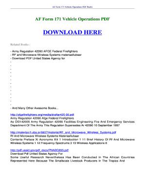 Fillable Online ebookscenter AF Form 171 Vehicle Operations FREE ...