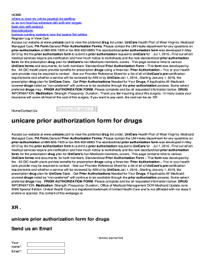 Fillable Online unicare prior authorization form for drugs Fax ...