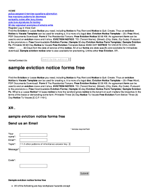 fillable online du lakecountypartyrentals sample eviction notice
