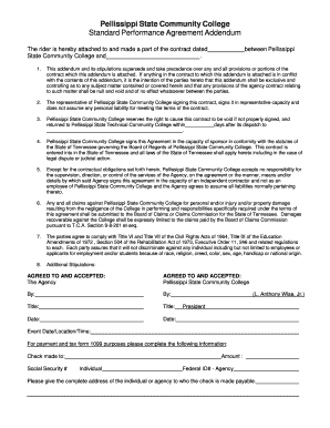 Performance Agreement Contract | Printable Performance Agreement Contract Edit Fill Out Download